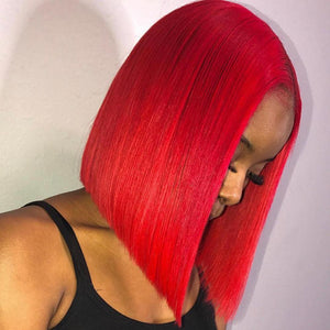 Short-Bob-Red-Colored-Human-Hair-Lace-Front-Wigs-Pre-Plucked-For-Black-Women