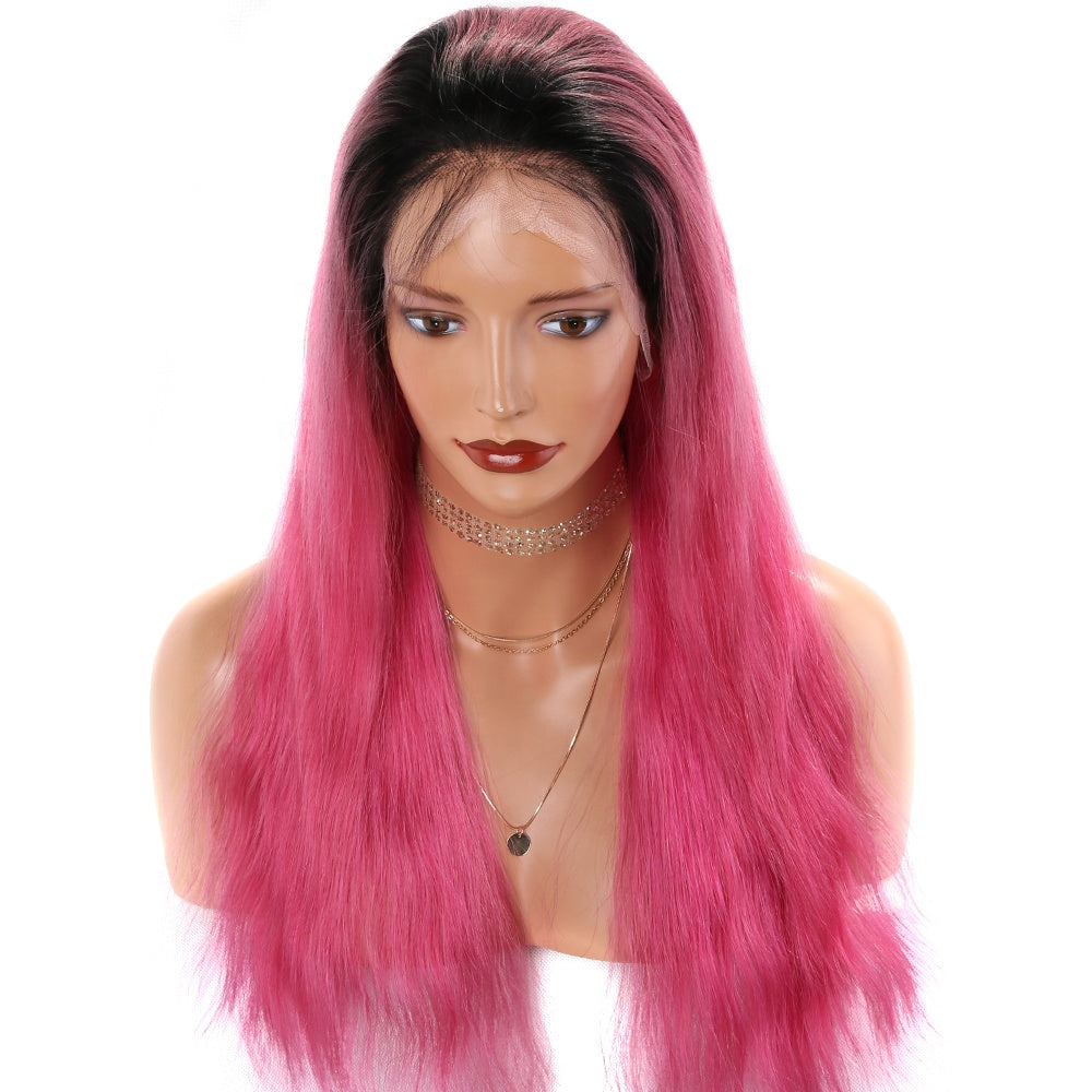 Hot-Pink-Ombre-Bob-Lace-Front-Wigs-for-Black-Women