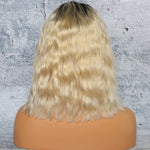 Combodian-Virgin-Remy-Human-Hair-Lace-Frontal-Front-Wigs-Loose-Curly-Medium-Bob