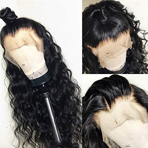 Mongolian-Human-Hair-Lace-Frontal-Front-Wigs –Preplucked-Natural-Hair-Line