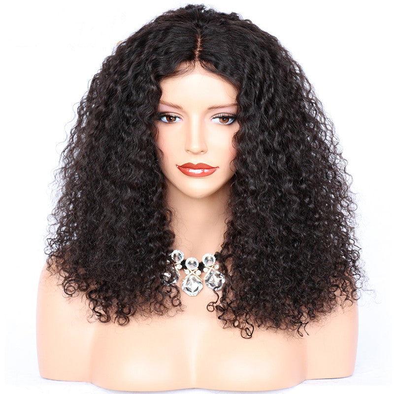 High-Quality-Medium-Long-Brazilian-Virgin-Kinky-Curly-Human-Hair-Lace-Front-Wigs