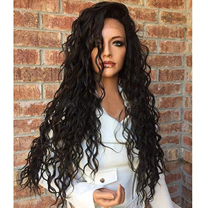 Brazilian-Virgin-hair-long-wave-Human-Hair-Lace-Wigs-Pre-Plucked-Free-Part-for-black-African-woman