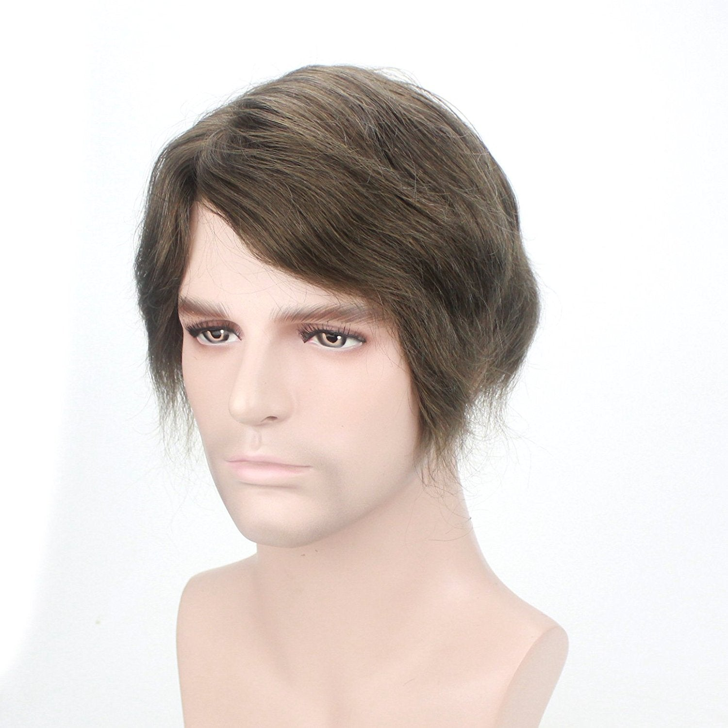 Glamorous Stylish Medium Wavy Men's Wig Human Hair Mens Toupee For Sale