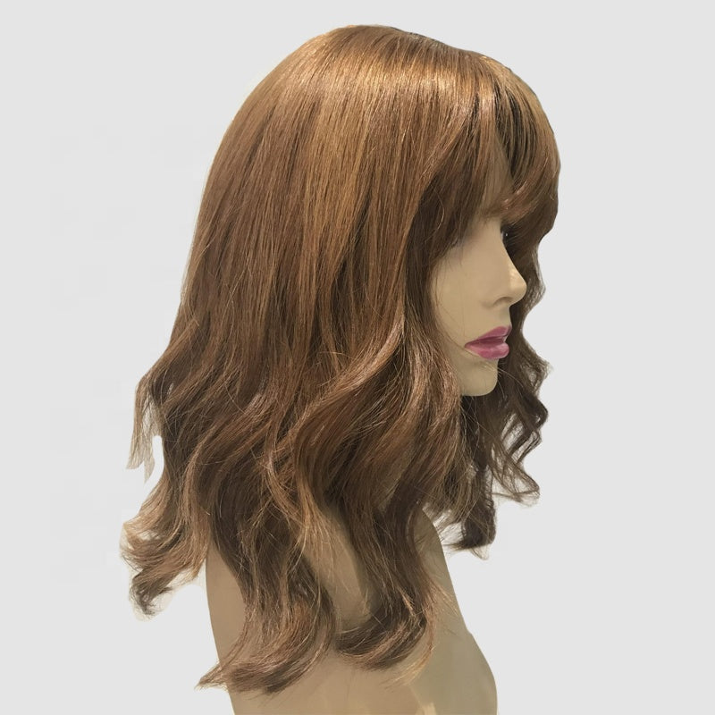 Light-Brown-Jewish-Women-Wigs-Natural-Wavy-Silk-Top-Wigs-With-Bangs