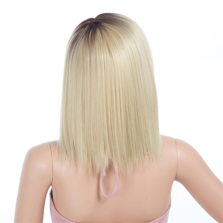 Blonde-Ombre-Bob-Cut-Synthetic-Wigs-Capless-Wigs-12inch
