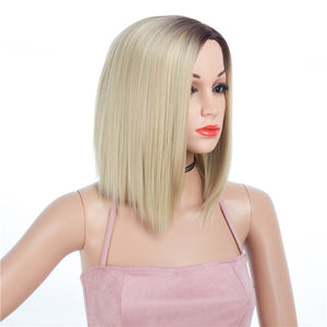 Blonde-Ombre-Synthetic-Wigs-Capless-Wigs-12inch