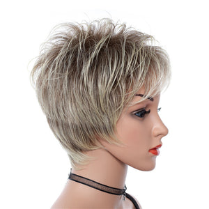 Short-Blonde-Rooted-Soft-Layered-Straight-Capless-Synthetic-Women-Wigs
