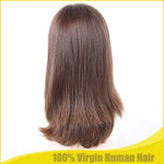 Real European Remy Human Hair Kosher Wig Jewish Silk Top Sheitels Durable