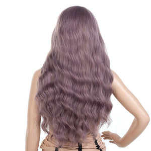 Light-Pastel-Purple-Gray-Long-Wavy-Synthetic-Hair-Wigs-For-Black-Women