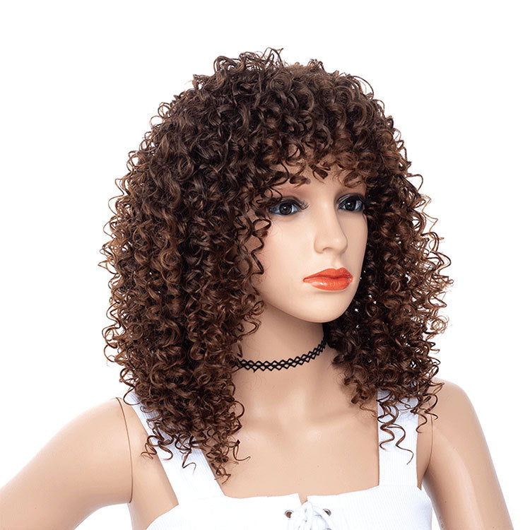 Brown-Kinky-Curly-Wigs-Synthetic-Hair-Capless-Spiral-Curl-Wigs-For-Sale