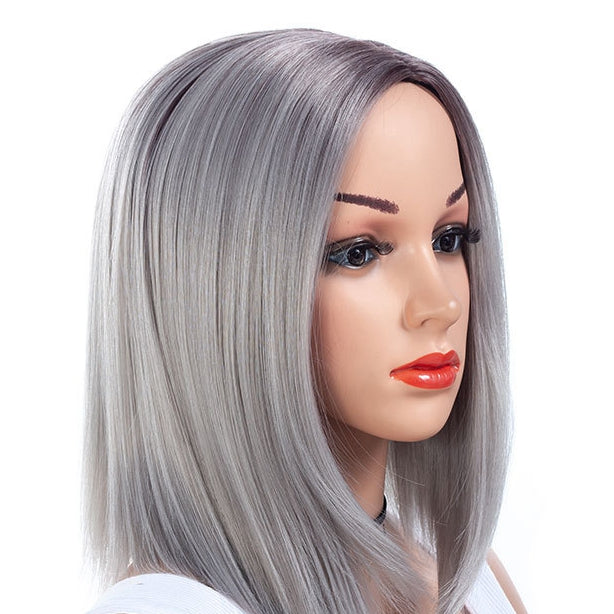 Medium-Bob-Cut-Straight-Capless-Synthetic-Wig