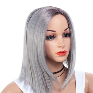 New-Arrival-Purple-Gray-Medium-Bob-Cut-Straight-Capless-Synthetic-Wig