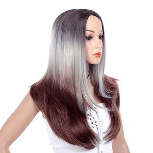 Gray-Ombre-Long-Straight-Layered-Synthetic-Hair-Wigs-For-Black-Women