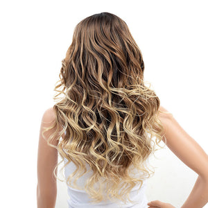 Best-3-Tones-Brown-Blonde-Ombre-Rooted-Long-Synthetic-Hair-Wigs