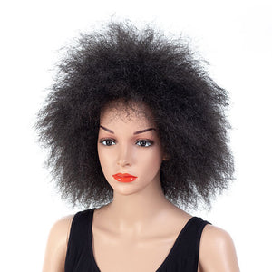 Sexy-Short-Medium-Big-Afro-Curly-Hair-Black-Brown-Synthetic-Hair-Wig-Natural-Black