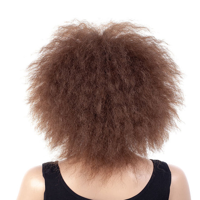 Sexy-Short-Medium-Big-Afro-Curly-Hair-Black-Brown-Synthetic-Hair-Wig-Dark-Brown