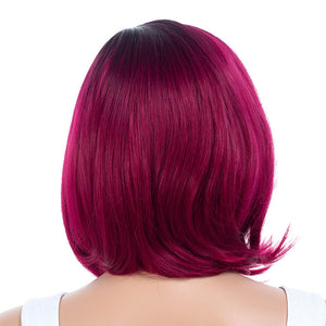 Purple-Plum-Wigs-Synthetic-Hair-Medium-Bob-Wigs-For-Black-Women