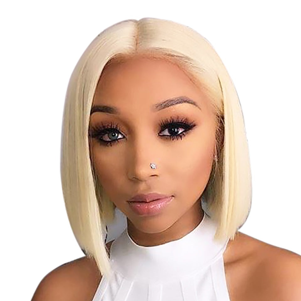 Blonde-Lace-Front-Wig-Brazilian-Virgin-Hair-613-Lace-Front-Bob-Human-Hair-Wigs-For-Black-Women-1B 613