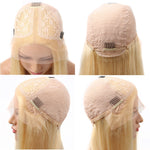 Light Pink Lace Front Human Hair Wigs For Black Women Straight Long Hair Wigs Bob