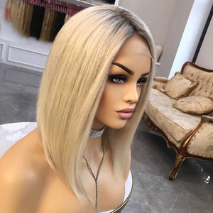 Bob-Ombre-Platium-Blonde-Lace-Front-Wigs-Full-Lace-Human-Hair-Wigs-150-Density