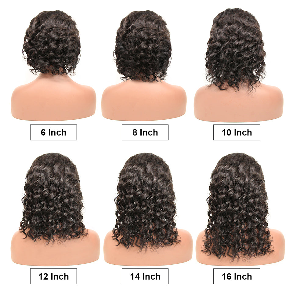 Natural Beauty Wave Lace Front Human Hair Wigs Brazilian Full And Thick Bob Curly Human Hair Wigs For Black Women
