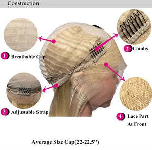 Rooted Golden Blond Remy Human Hair TOPPER Wiglet Crown Hair Piece For Women