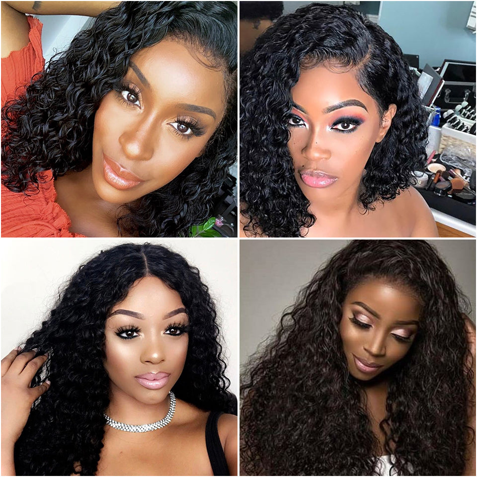 Kinky-Curly-Human-Hair-Wig-Brazilian-Short-Bob-Lace-Front-Human-Hair-Wigs-Pre-Pluck-Hairline-With-Baby-Hair