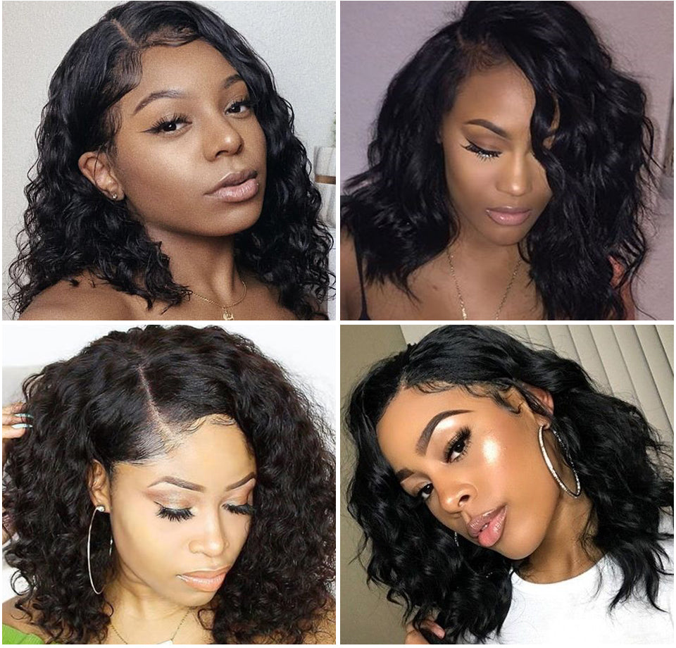 Natural-Wave-Lace-Front-Human-Hair-Wigs-Brazilian-Full-And-Thick-Bob-Curly-Human-Hair-Wigs