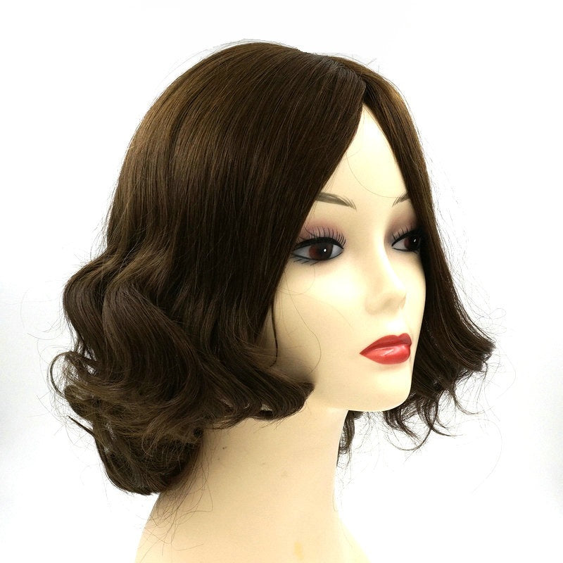 Medium-Bob-Wavy-Silk-Top-Human-Hair-Wigs