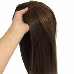 Natural-Looking-Brown-Clip-In-Hair-Pieces-Women's-Human-Hair-Wigs