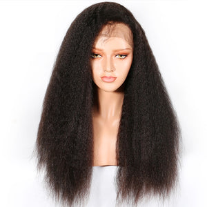 Yaki-Straight-Lace-Front-Human-Hair-Wigs-For-Women-Black-Color-Remy-Brazilian-Lace-Wigs-Plucked