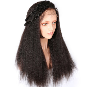 Kinky-Straight-Lace-Front-Human-Hair-Wigs-For-Women-Black-Color-Remy-Brazilian-Lace-Wigs-Pre-Plucked