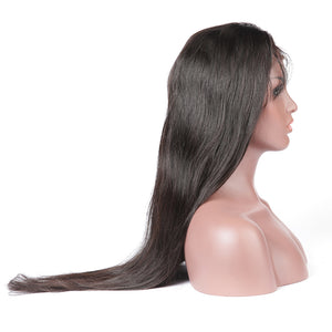 Lace Front Human Hair Wigs Virgin Hair Brazilian Straight Glueless Lace Front Wig With Baby Hair Lace Closure Wig