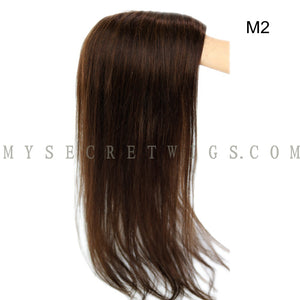 Brazilian Virgin Human Hair Women's Real Hair Wig Toppers Mono With PU Around