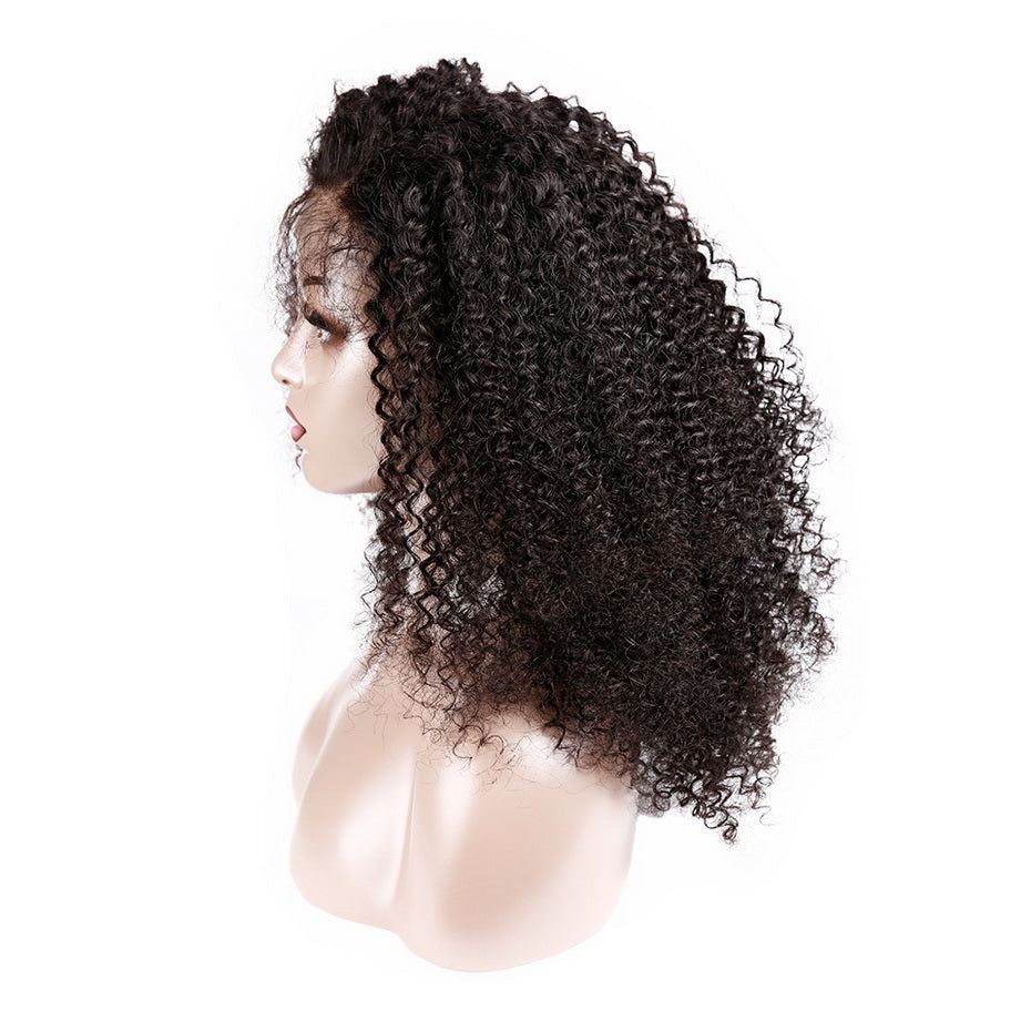 Big-Afro-Kinky-Curly-Lace-Front-Human-Hair-Wigs-With-Bangs