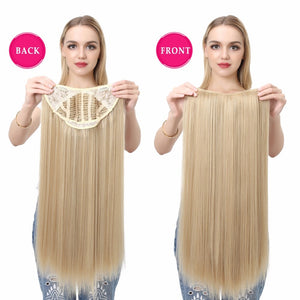 U-Part-One-Piece-Clip-On-Hair-Extensions-Straight-Wavy-Ombre-Full-Head