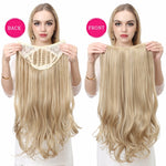 U-Part-One-Piece-Clip-On-Hair-Extensions-Straight-Wavy-Ombre-Full-Head-Long-Wavy-Synthetic-Hairpieces