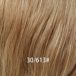 8 Inch Short 50% Human Hair Wigs with Bangs Natural Wavy Fluffy Layered Wigs for  Women Blend Hair Wig