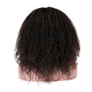 Brazilian Afro Curl Lace Front Wigs For Black Women 8-24Inch Pre Plucked With Baby Hair Remy Human Hair Wig Free Shipping