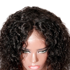 13X4 Lace Front Human Hair Bob Wigs For American Brazilian Curly Remy Hair Wig 150% density Pre Plucked Free Shipping