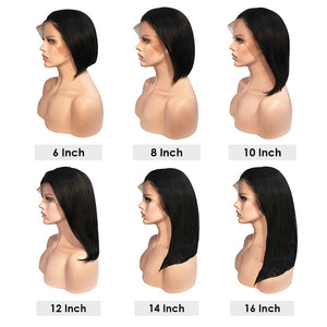 Beauty 13x6 Lace Front Human Hair Wigs Short Bob Wig with Pre Plucked Hairline Brazilian Hair Lace Closure Wig