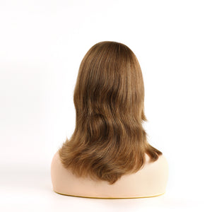 Brown-Human-Hair-Jewish-Women-Wigs-Sheitel