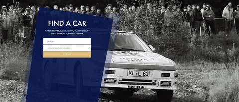 FIA Homologation Database Front Page