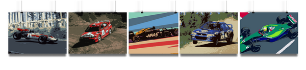 Miles & Myles Fine Art Motorsport Poster Collection