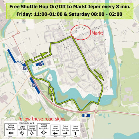 Ypres Rally 2019 Shuttle Map