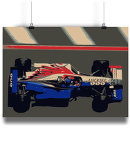 Load image into Gallery viewer, BAR 01 F1 Car Poster from the 1999 Monte Carlo Grand Prix