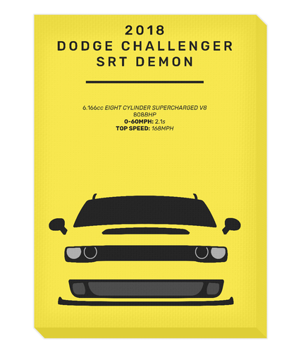 Dodge Challenger Demon Canvas (Yellow)