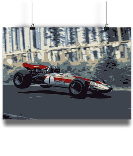 Lotus 49 mock-up sample of the fine art poster