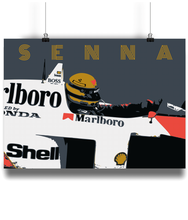 Load image into Gallery viewer, Ayrton Senna Poster