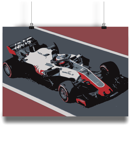 HAAS F1 Team poster